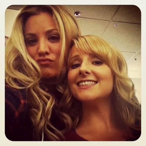Penny és Bernadette közös fotója :)