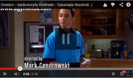 Sheldon, es a karacsonyfa tortenete :)