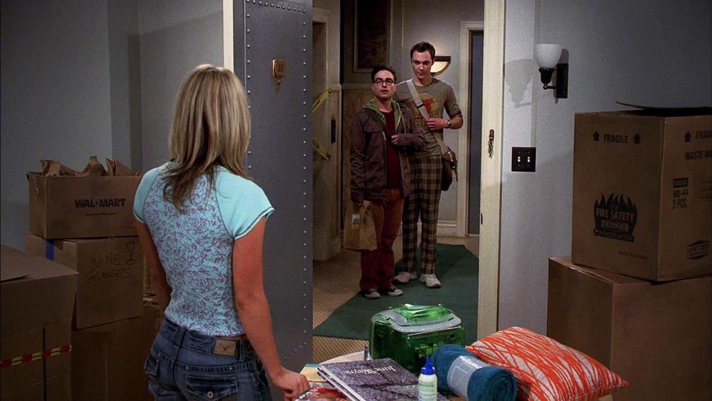 Sheldon, Leonard, Penny, Agymenok