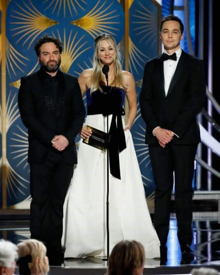 Johnny, Jim, Kaley  Golden Globe 2019