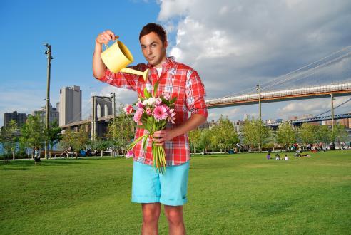 Sheldon a kertben