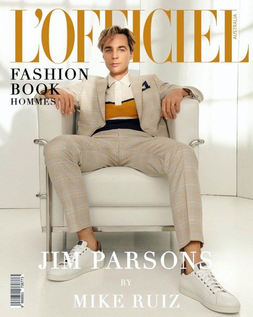 Jim Parsons sheldon L'Officiel magazinban 05