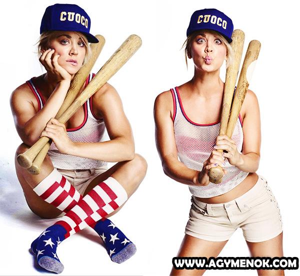 Penny, Kaley Cuoco szexi baseball dressben
