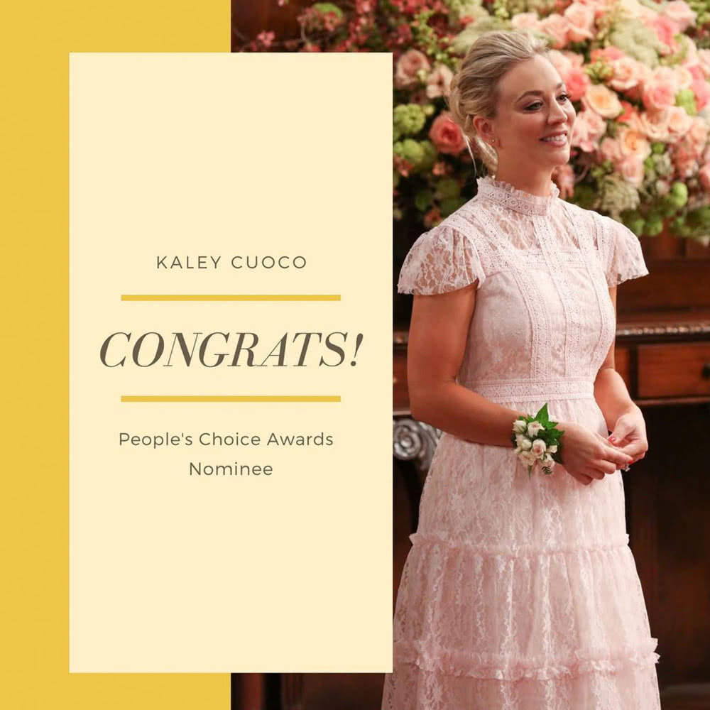People's Choice Awards - Kaley Cuoco