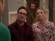 Sheldon, Penny, Leonard az ajtoban